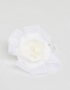 Браслет с цветком и искусственным жемчугом ASOS - Кремовый
