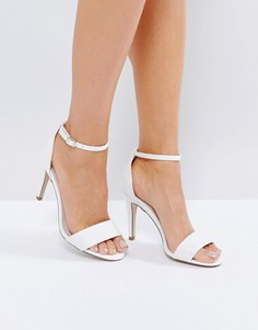 Блестящие босоножки на каблуке из 2 частей New Look - Белый