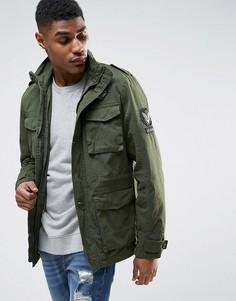 Куртка милитари с нашивками Tokyo Laundry - Зеленый