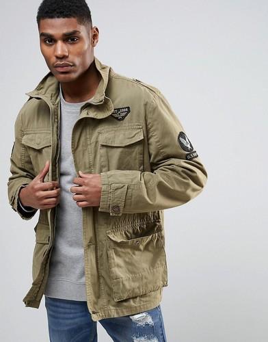 Куртка милитари с нашивками Tokyo Laundry - Бежевый