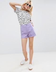 Сиреневые джинсовые шорты в винтажном стиле ASOS - Фиолетовый