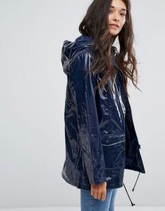 Лакированное пальто-дождевик New Look - Синий