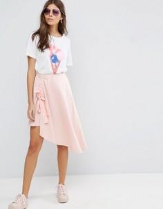 Мини‑юбка с асимметричным краем ASOS - Розовый
