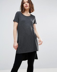 Длинная футболка с разрезами Only Jewel - Серый