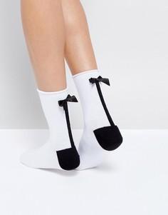 Носки с бантиком ASOS - Белый
