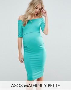 Платье с укороченными рукавами ASOS Maternity PETITE - Зеленый