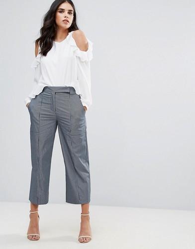 Юбка-брюки в полоску Closet London - Синий