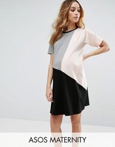 Платье в стиле колор блок ASOS Maternity - Мульти