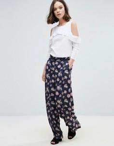 Юбка-шорты с цветочным принтом Ichi - Мульти