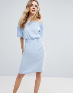 Платье с открытыми плечами Ichi - Синий