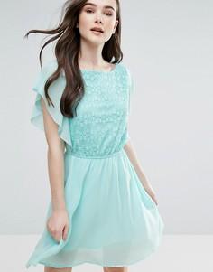 Короткое приталенное платье Pussycat London - Зеленый