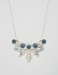 Броское ожерелье с искусственным жемчугом и камнями Johnny Loves Rosie - Мульти