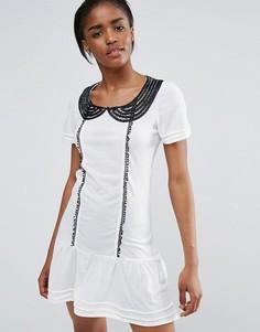 Платье со вставкой Pussycat London - Белый