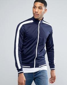 Куртка на молнии в стиле ретро Threadbare - Темно-синий