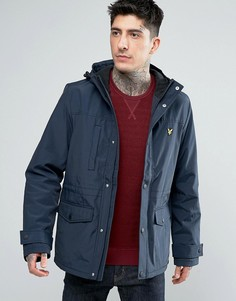Куртка из микрофлиса с подкладкой Lyle & Scott - Темно-синий