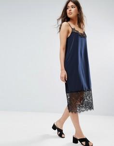 Платье-комбинация с кружевом Only Maria - Черный