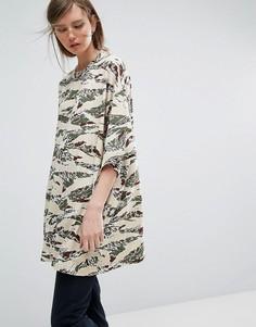 Платье-футболка Weekday Huge - Мульти