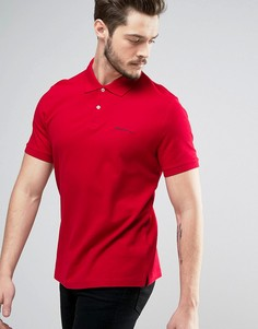 Однотонное базовое поло классического кроя Ben Sherman - Красный