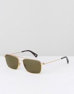 Солнцезащитные очки в квадратной оправе G-Star Raw Mezard - Золотой