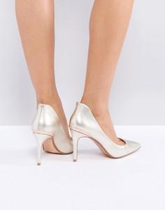 Золотистые туфли-лодочки на каблуке Ted Baker Saviy - Золотой