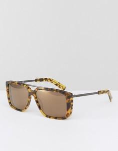 Солнцезащитные очки в квадратной оправе Karl Lagerfeld - Коричневый