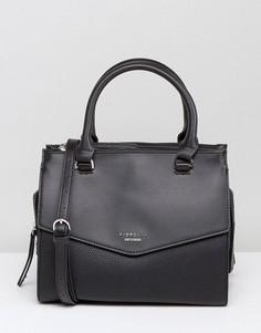 Структурированная сумка-тоут со съемным ремешком на плечо Fiorelli Mia - Черный