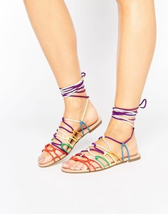 Сандалии на завязках с узелками Glamorous - Мульти