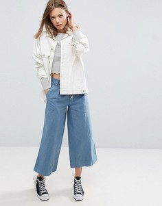 Выбеленные брюки с широкими штанинами ASOS - Синий