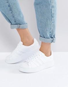 Белые кроссовки на двойной подошве adidas Originals Superstar - Белый