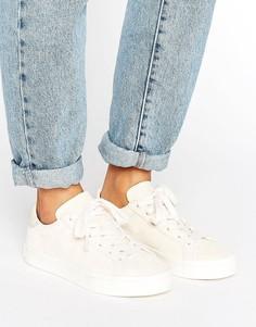 Бежевые кроссовки adidas Originals Court Vantage - Коричневый
