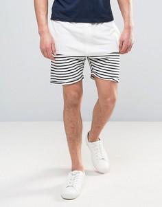 Трикотажные шорты из махровой ткани в полоску Solid - Белый