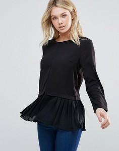 Рубашка со складками по краю d.RA Leslie - Черный