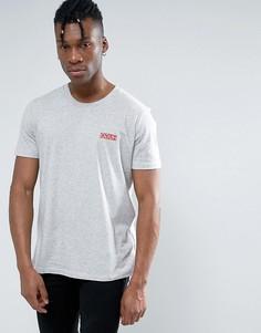 Серая узкая футболка с логотипом HUGO by Hugo Boss Durned - Серый