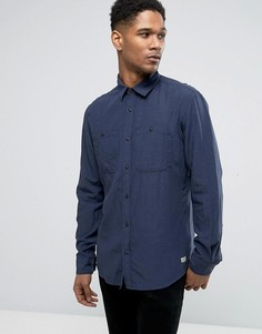Облегающая рубашка с карманами в стиле милитари Jack & Jones Vintage - Темно-синий