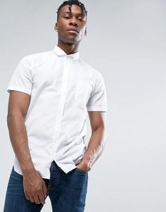 Белая узкая рубашка с короткими рукавами BOSS Orange by Hugo Boss - Белый
