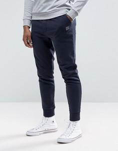 Темно-синие узкие спортивные брюки BOSS Orange by Hugo Boss - Темно-синий