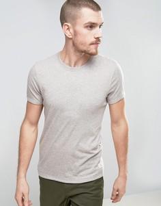 Меланжевая футболка Selected Homme - Бежевый