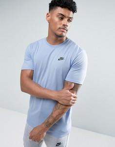 Голубая футболка Nike Tech 847505-436 - Синий