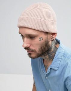 Светло-розовая шапка-бини ASOS - Розовый