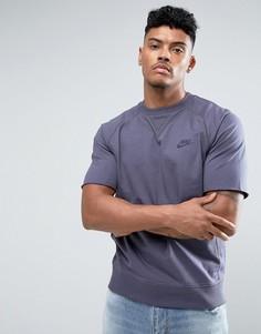 Фиолетовый свитшот с короткими рукавами Nike 833954-539 - Фиолетовый