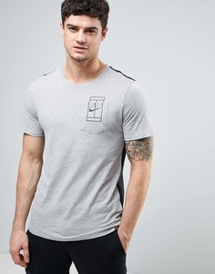Серая футболка с карманом Nike Court 836064-066 - Серый