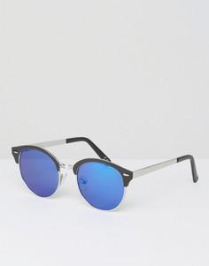 Черные солнцезащитные очки в стиле ретро с зеркальными стеклами ASOS - Черный