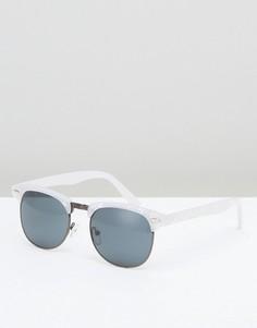 Солнцезащитные очки в стиле ретро ASOS - Белый