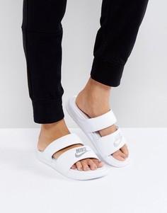 Белые шлепанцы с логотипом Nike Benassi - Белый