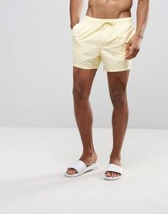 Светло-желтые короткие шорты для плавания ASOS - Желтый