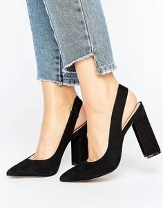 Туфли на блочном каблуке с ремешком через пятку ALDO Looker - Черный