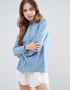 Джинсовая рубашка с воротником-стойкой Blend She Mila - Синий