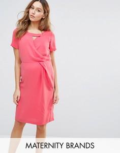 Платье для кормления с вырезом у горловины Mamalicious Maternity - Розовый Mama.Licious