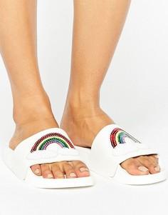 Белые сандалии с пайетками TheWhiteBrand - Мульти