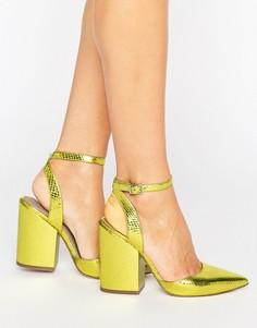 Остроносые туфли на каблуке ASOS PICK N MIX - Желтый
